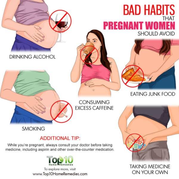 bad habits that pregnant women should avoid