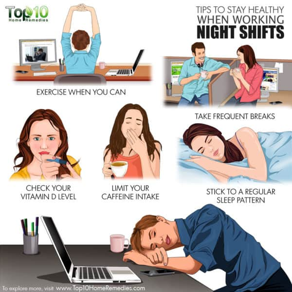 tips to stay healthy when working night shifts