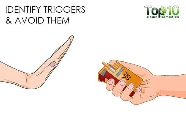 avoid triggers to handle smoking relapse