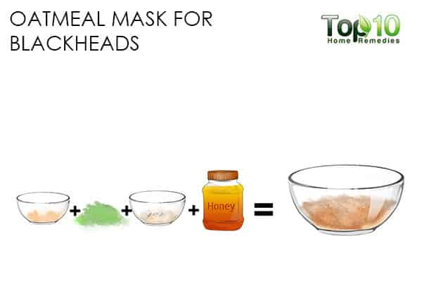 blackheads use oatmeal face mask for skin problems