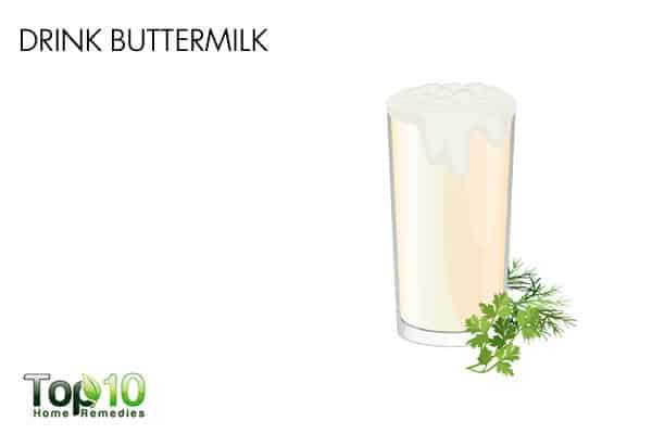 buttermilk for gas during pregnancy