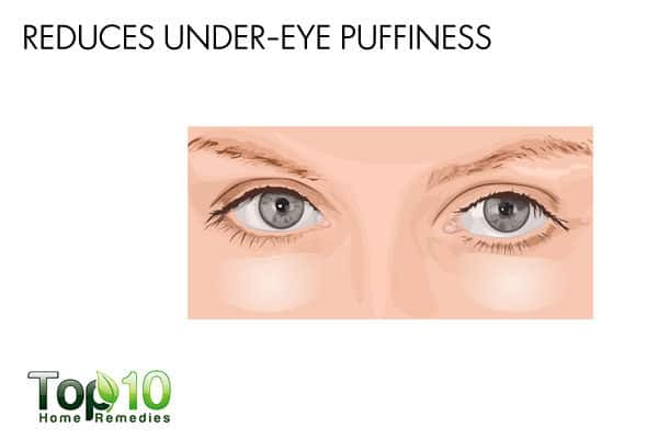 eggs reduce under-eye puffiness
