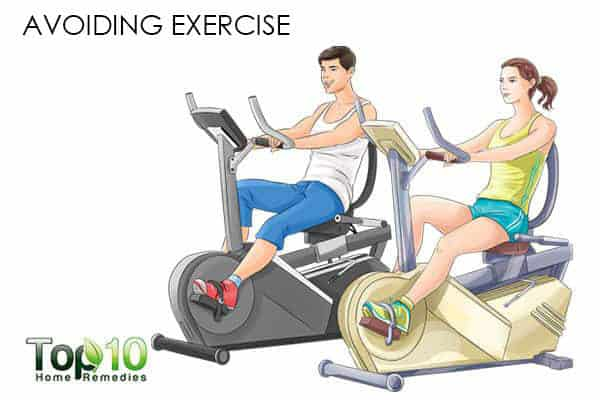 avoiding exercise can cause weight gain