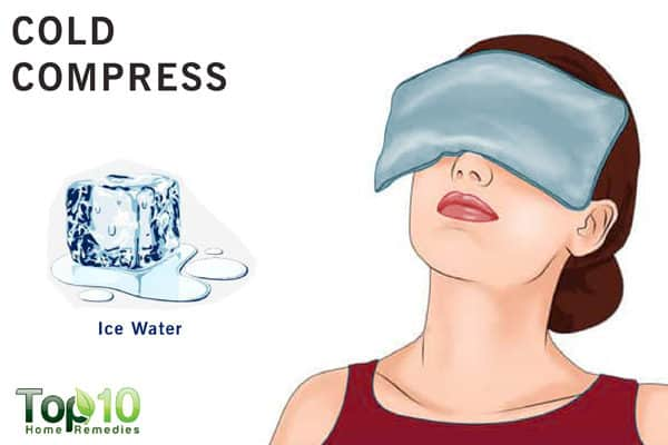 cold compress for eye pain