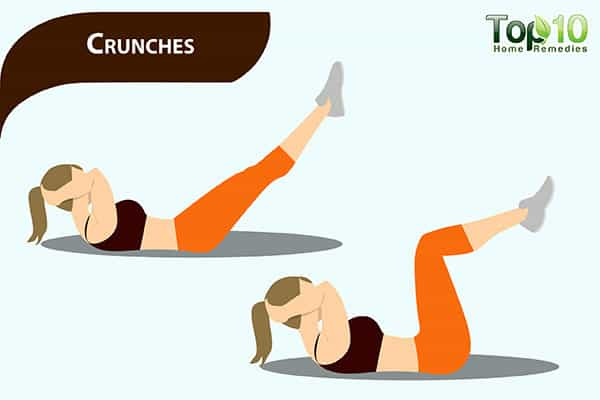 crunches to reduce pot belly