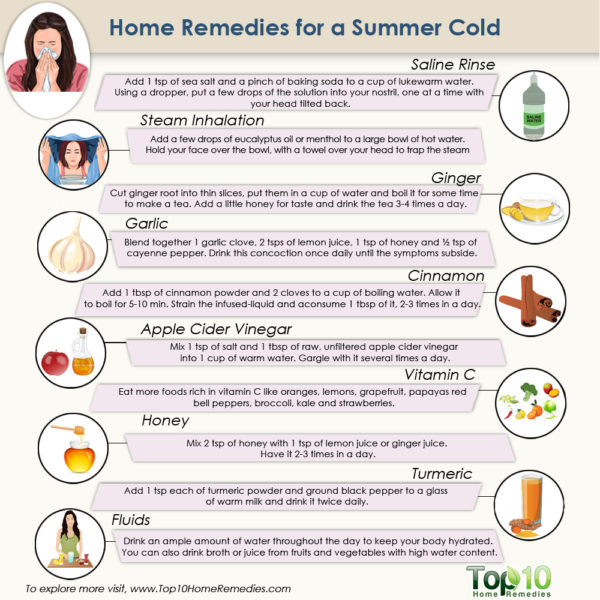 home remedies for summer cold
