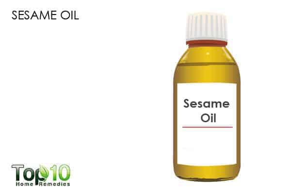 sesame oil for dry nose