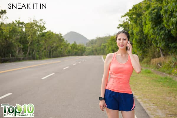 smeak in more walking in your daily routine