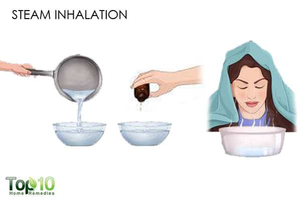 steam inhalation for dry nose