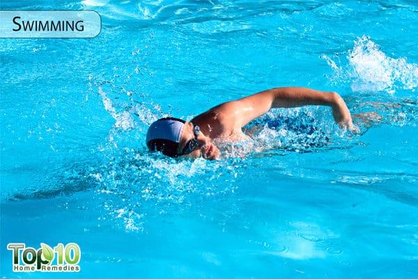 swimming to manage diabetes