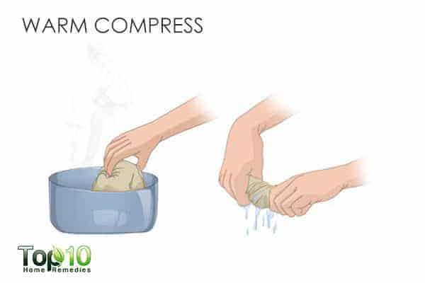 warm compress for hormonal acne