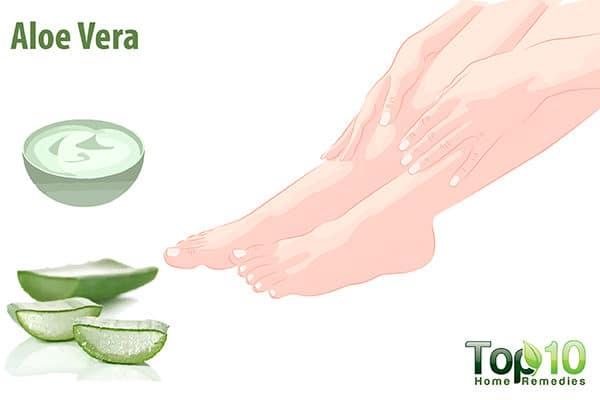 aloe vera for itchy feet