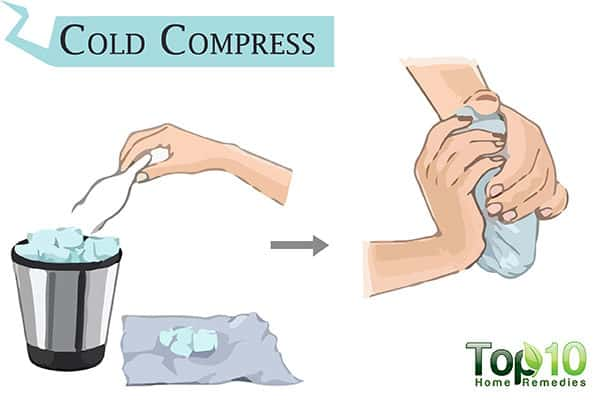 cold compress to relieve insect bite