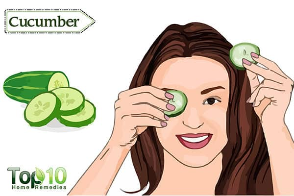 cucumber to treat red eyes