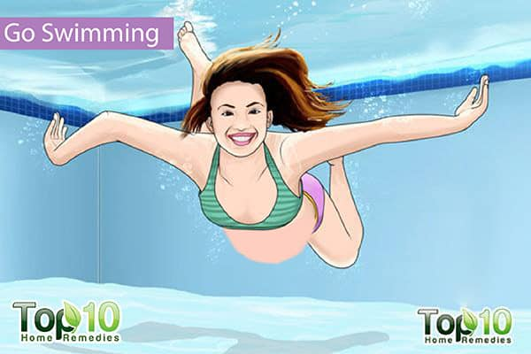 swimming to reduce pregnancy edema on feet