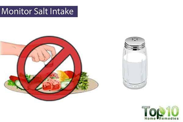 monitor your salt intake to reduce swollen feet during pregnancy
