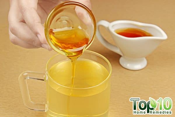 add honey to apple cider vinegar drink