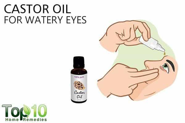 castor oil for watery eyes