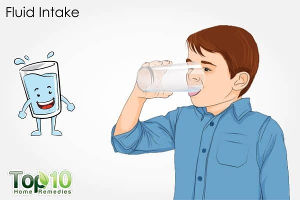 fluid intake for children to cure constipation