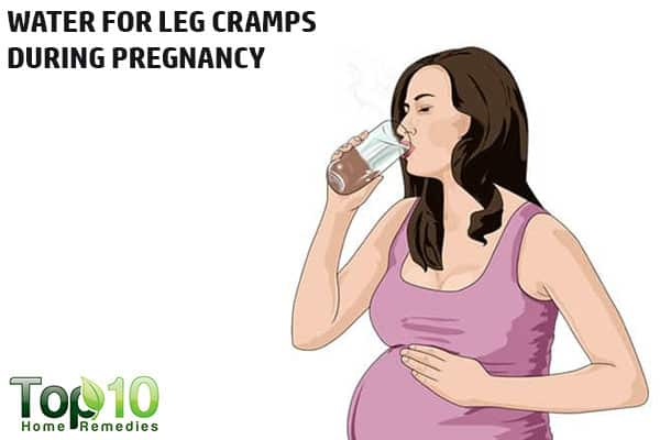 drink more water to prevent and treat pregnancy leg cramps