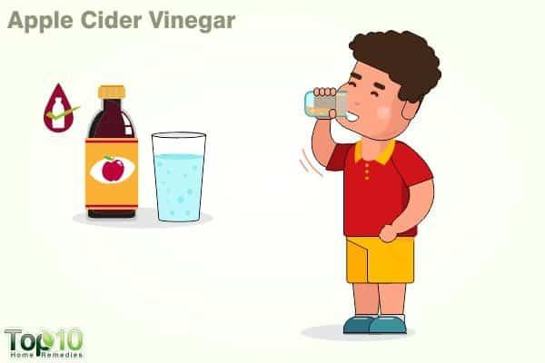 apple cider vinegar for fever in children