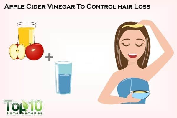 apple cider vinegar to control hair loss