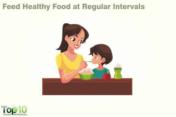 feed healthy food more frequently to your child after fever