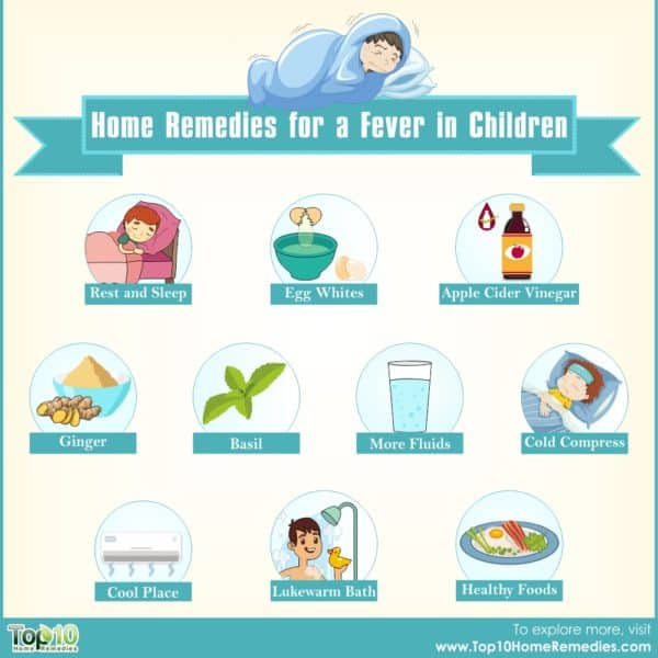 home remedies for fever in chikdren
