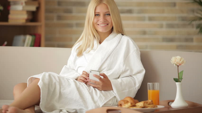 Image result for woman in bathrobe