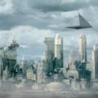 Strange Pyramid UFO Over New York