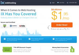 ixwebhosting $1.95 a month