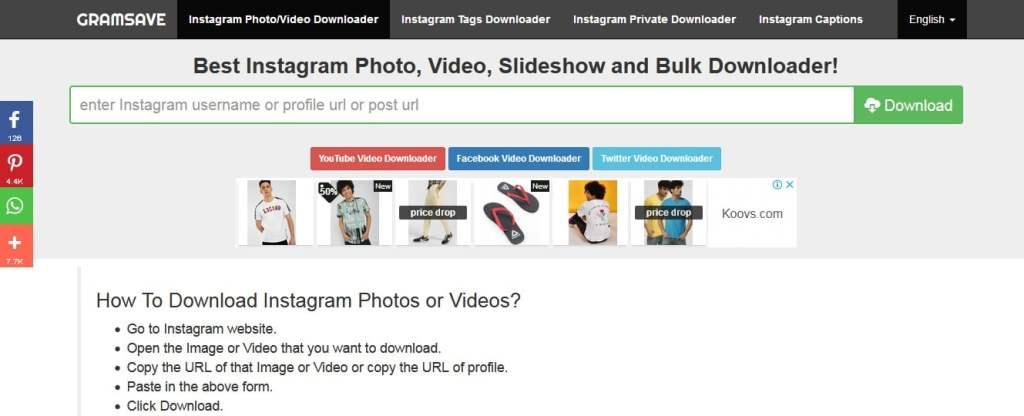 Instagram Bulk Downloader Firefox
