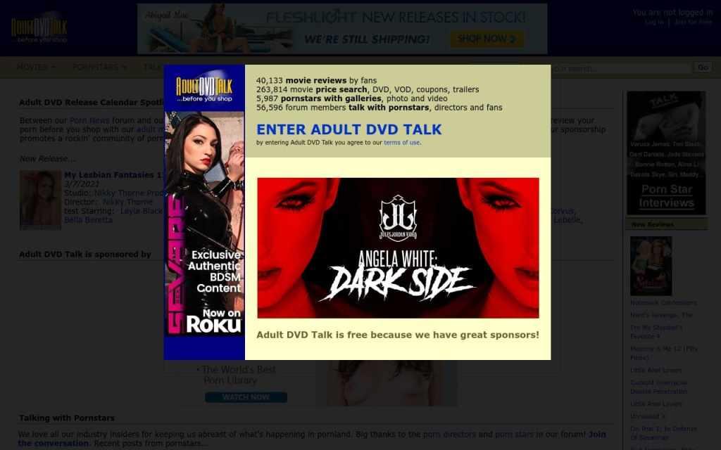 Adult DVD Talk - top Pornstar Databases List