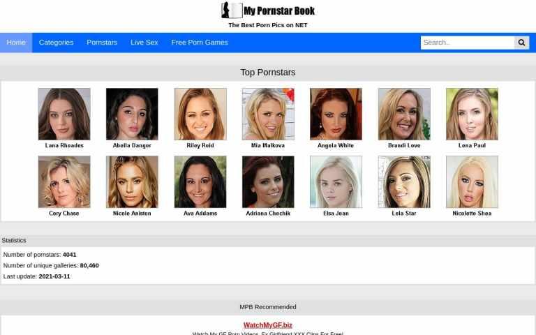 Mypornstarbook - top Pornstar Databases List