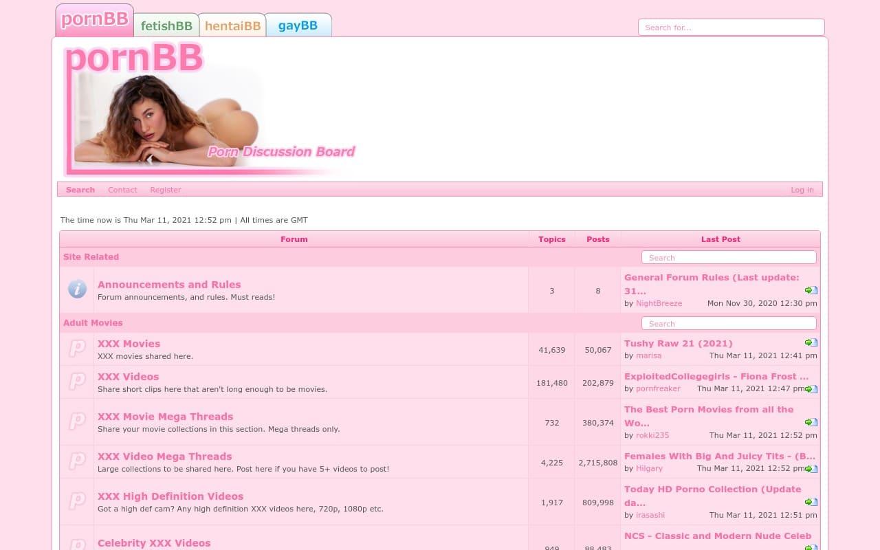 Pornbb - top Porn Forums List
