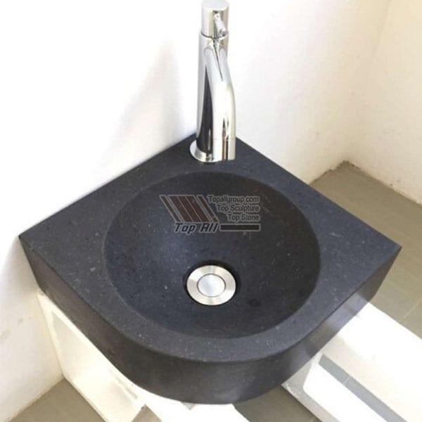 china black corner marble wash basin