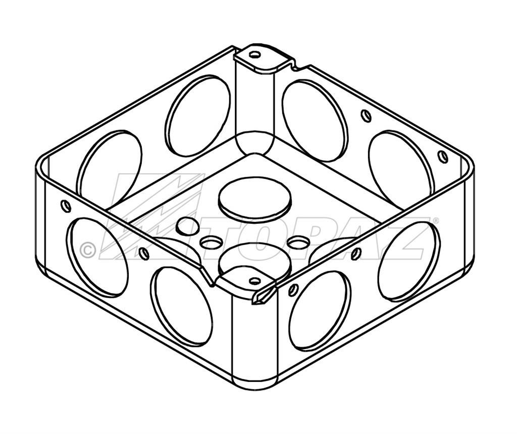 4 Square Drawn Boxes Steel 1 1 2 Deep 3 4 Ko