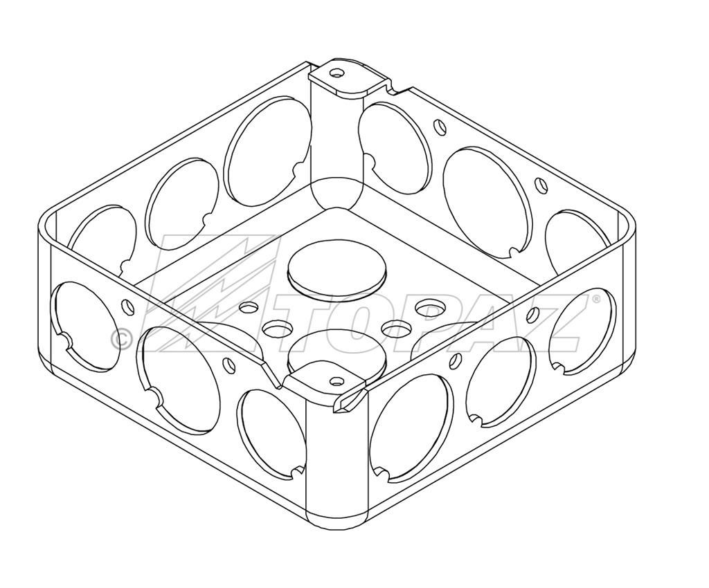 4 Square Drawn Boxes Steel 1 1 2 Deep 1 2 Amp 3 4 Ko