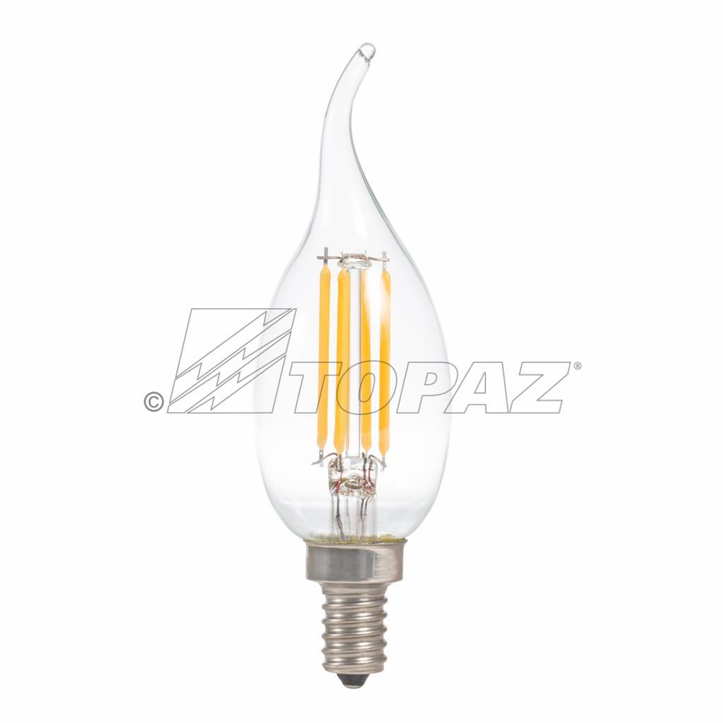 Led Antique Filament Style Candelabra Lamps