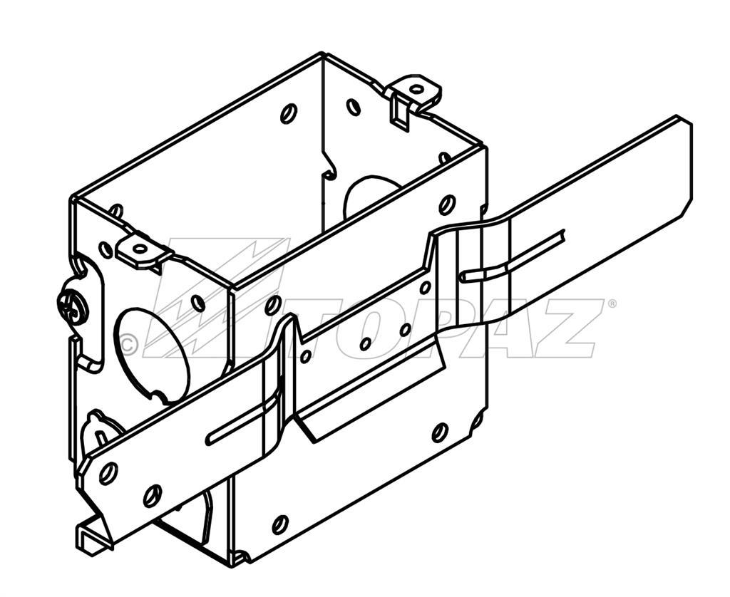 3 X 2 Gangable Switch Boxes 2 3 4 Deep 1 2 Ko With Mc