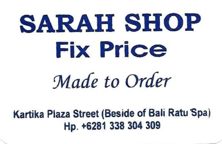 Sarah Shop