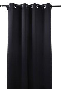 #4. Deconovo Black Blackout Curtains