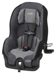 #2. Evenflo Tribute LX Convertible Baby Car Seat