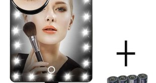 3. FLYMEI® Touch Screen 20 LED Lighted Makeup Mirror