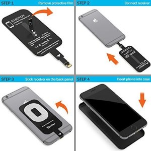 6. iPhone Qi Wireless Charging Receiver for iPhone 6 and 7