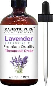 2. Majestic Pure Lavender Essential Oil, Therapeutic Grade