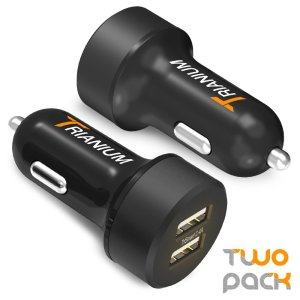 9. Trianium 24W/4.8A Dual USB vehicle Chargers