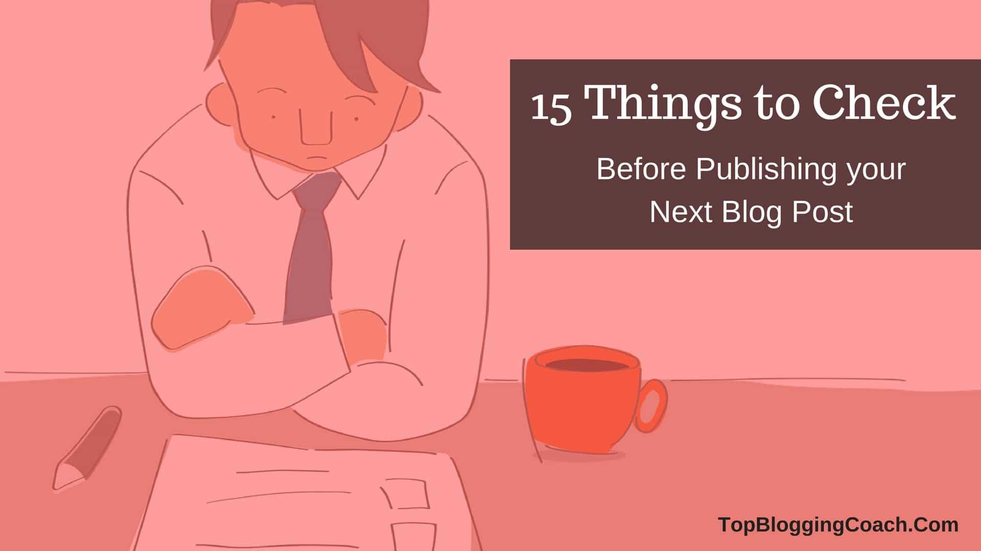 blog post publishing checklists