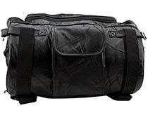 Leather Motorcycle Barrel Handlebar Bag