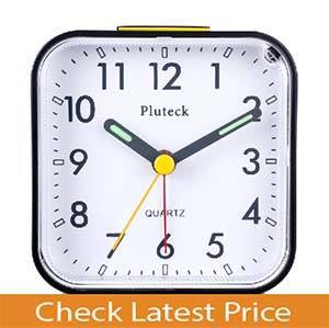 Pluteck Non Ticking Analog Alarm Clock
